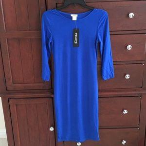 NWT Blue dress midi
